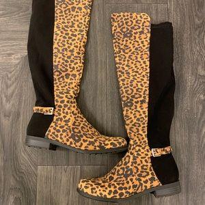 Liz Claiborne tall animal print boots